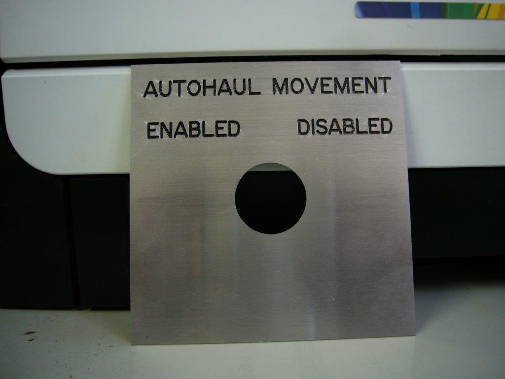 Engraved Aluminium Label