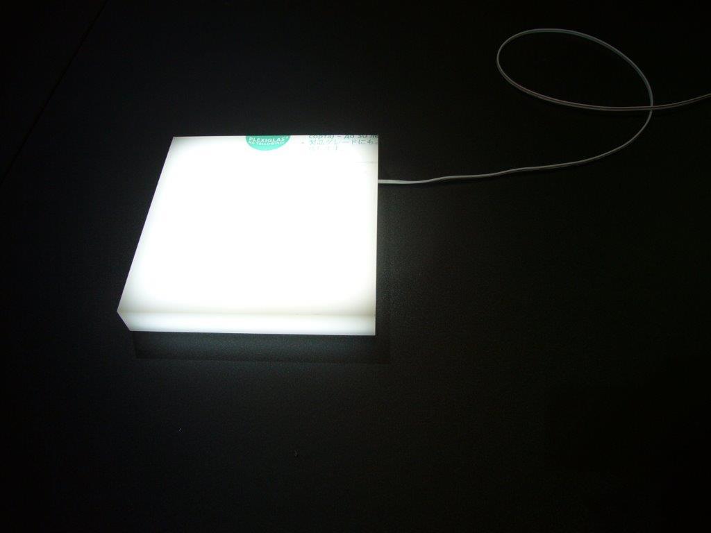 CNC Cut Acrylic Box With LED Light