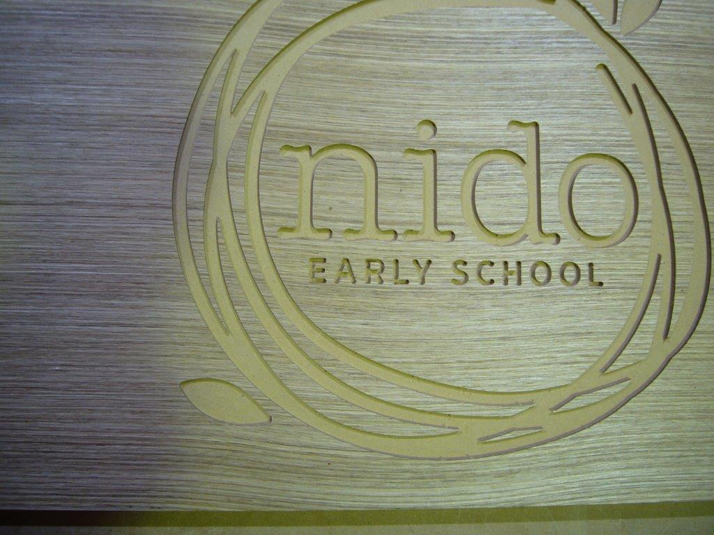 Wood Engraving Custom Logo
