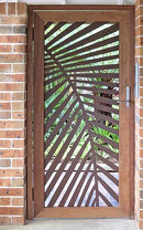 laser cut door screen using metal cutting in perth